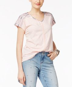 Style & Co Embroidered Top, Only at Macy's | macys.com