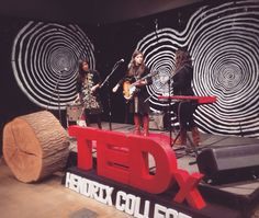 Tree ring stage design for TEDxHendrixCollege 2015 - Origins