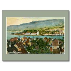 Vintage Bergen Bergenhus Norway Post Cards and greeting cards