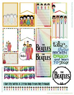 FREE Beatles Theme Planner by Victoria Thatcher