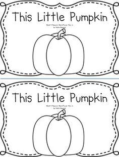 This Little Pumpkin Emergent Reader Book