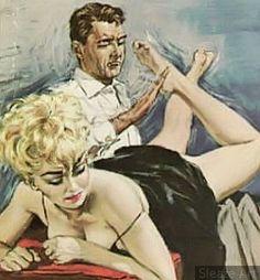 spanking fetisch kunst