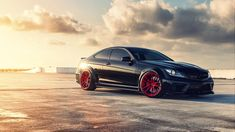 cars roads vehicles Mercedes-Benz black series Mercedes Benz C63 Black Series  / 1920x1080 Wallpaper