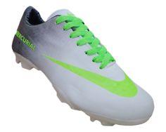 ff0ceb845eef2 Chuteira Nike Mercurial Vortex Branco e Preto MOD:10833 Chuteiras Nike,  Futebol, Preto