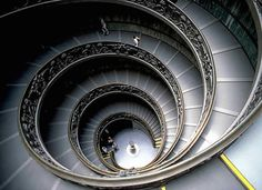 Vatican Museum staircase - 13 Beautiful Staircases From Around The World - Swifty.com