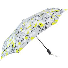 Marimekko Lumimarja Grey Auto Lux Umbrella ($69) ❤ liked on Polyvore featuring accessories, umbrellas, cocktail umbrellas, marimekko, print umbrella and marimekko umbrella