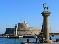 The Old Port of Rhodes is considered one of the Seven Wonders of the Ancient World with the Colossus of Rhodes and its Medieval walls.