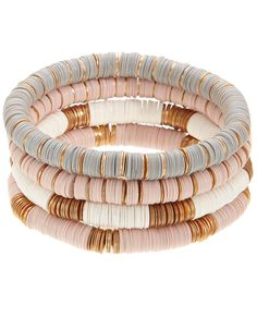 4 x Discy Stretch Bracelets | Multi | Accessorize