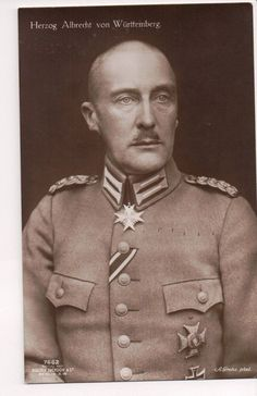 Albrecht of Württemberg (1865-1939). Head of the Royal house of Württemberg from 1921 until his death.