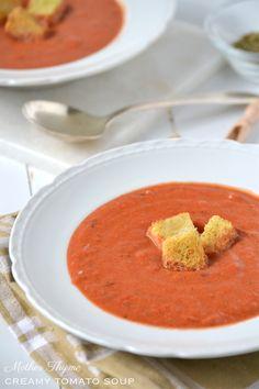 Creamy Panera Style Tomato Soup | www.motherthyme.com