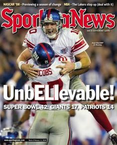 NY GIANTS .....yes sister i was a fan for those last 57 seconds $$$ bwaahahaha!!!