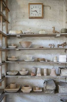 Bernard Leach Pottery Studio, St Ives, also the home of the Barbara Hepworth Museum. Wabi Sabi, Clay Studio, Ceramic Studio, Ceramic Pottery, Ceramic Art, Slab Pottery, Ceramic Bowls, Pottery Barn, St Ives