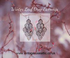 We just love these leaf drop earrings