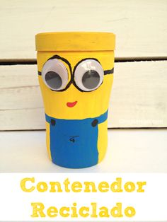 #ad #1Millon4Edu #CollectiveBias #contenedor #diy  #minion #reciclaje #manualidades
