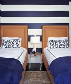 boys room  striped wall design