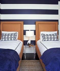 boys room  striped wall design