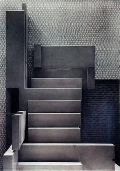 Visions of an Industrial Age: Carlo Scarpa - Olivetti shop - Venezia - 1958 Carlo Scarpa, Contemporary Architecture, Art And Architecture, Architecture Details, Gio Ponti, Design Oriental, Stair Steps, Sendai, Interior Stairs