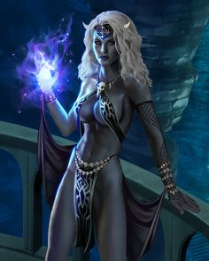Drow Sorceress by goatlord51 on DeviantArt