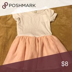 Old Navy Dress White tee shirt on top, peach tutu on the bottom Old Navy Dresses Casual