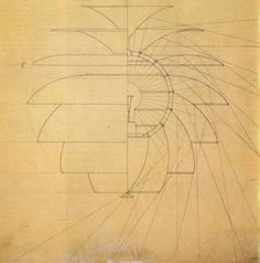 Poul Henningson - layout design for PH lamp - Mid Century Modern