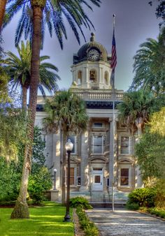 The Glynn County Courthouse in Historic Brunswick, Georgia is one of the city's most historic sites. www.GoldenIsles.com