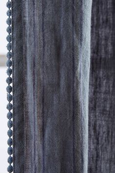 "50""x96"" Striped Linen Curtain - anthropologie.com - with any of sheer white curtain options underneath"