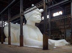 Kara Walker's monumental sugar sculpture at the Domino Factory in New York