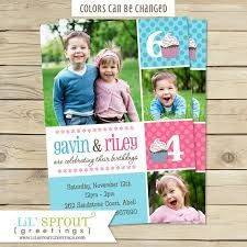 Brother And Sister Joint Birthday Party Invitations