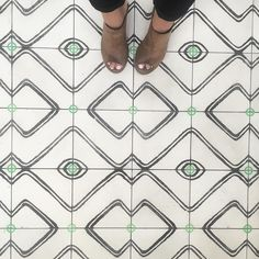 toes & tile at our #uptowndowntown project. feeling a tad speechless so we'll just stick with these sentiments @exquisitesurfaces @brettelrod @ihavethisthingwithfloors #cortneybishopdesign #cbdbuild #residentialdesign #tiles #tileaddiction #tile #ihavethisthingwithfloors #floor #flooring #entry #pattern #patternplay #blackandwhite #geometric #interiors #interiordesign #interiorinspo #interiorinspiration #instadesign #instahome #homestyle #homedesign #homeinspo by cortneybishopdesign