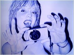 Juan Francisco Casas' Bic pen drawings are definitely better than the doodles I used to make in high school. Recreating sexy photos with the blue pens Ansel Adams, Bic Pens, Ballpoint Pen Drawing, 3d Street Art, Amazing Drawings, Italian Artist, Pencil Art, Art Sketches, Photo Art