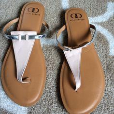 Kelsi dagger sandals Brand new kelsi dagger sandals neutral color with silver make offers no trades Kelsi Dagger Shoes Sandals