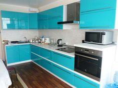 Голубая кухня в интерьере Home Room Design, Kitchen Design Color, Kitchen Cupboard Designs, Interior Design Kitchen, Kitchen Room Design, Kitchen Furniture Design, Kitchen Design