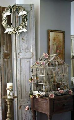 Stunning..I have always loved bird cages..empty ones are the best..
