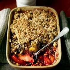 It's time to raid the hedgerows for this apple and blackberry crumble recipe
