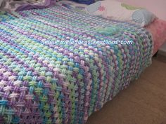 Interweave Cable Stitch afghan  from Meladora's Creations