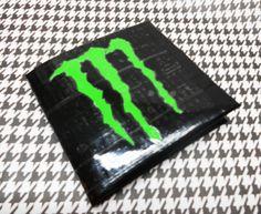 Monster Energy Drink bi-fold duct tape wallet