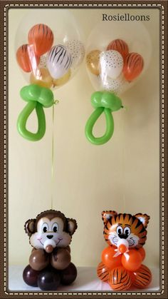 Sweet balloon decorations for a baby shower.