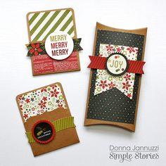 DIY Christmas Gift Holders {Simple Stories} - Scrapbook.com - Made with Simple Stories DIY Christmas Collection.