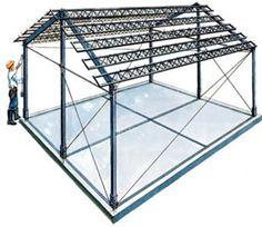 CASAS PRÉ-FABRICADAS: estrutura metálica - http://www.casaprefabricada.org/casas-pre-fabricadas-estrutura-metalica
