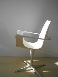 Luigi Colani; Swivel Chair for Lusch, 1971.