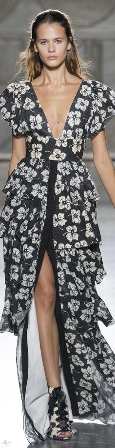 Spring 2018 RTW Fausto Puglisi Women's Dresses, Nice Dresses, Miami Fashion, Runway Fashion, Womens Fashion, Glamour Beauty, Lace Maxi, Black White Red, White Fashion