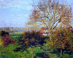 Camille Pissarro, Autumn morning at Eragny, 1897 on ArtStack #camille-pissarro #art