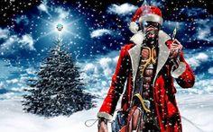 Eddie - Santa Claus by croatian-crusader on DeviantArt Cyberpunk, Iron Maiden Mascot, Vic Rattlehead, Iron Maiden Posters, Iron Maiden Albums, Eddie The Head, Iron Maiden Band, Bad Santa, Metal Albums