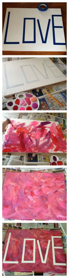 Totally going to have the kids do this, but i think i will paint the canvas first so its not white letters?