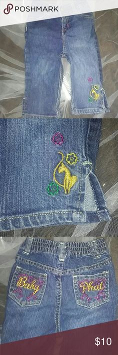 18 months Baby Phat Jeans Good-excellent condition I have many children's clothes up to 14 for boys and girls. So follow me and check out my closet and I will follow you and check out yours!! All items will be ironed and packaged neatly including a free gift with every purchase.. I am open to trading.. so feel free to leave a comment 💁 Baby Phat Bottoms Jeans