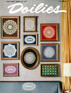 Mat and frame vintage doilies