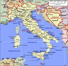 Sicily italye bottom of map interesting maps of italy image detail for political map of italy and malta world sites atlas gumiabroncs Image collections