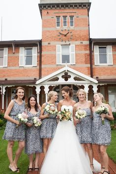 animal print bridesmaids | Vanilla Photography #wedding