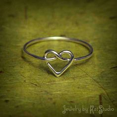 Heart Ring with a Infinity Symbol Inside