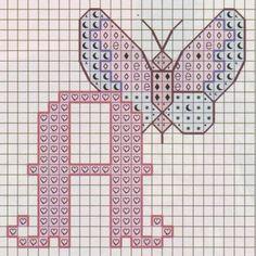 Nomi con il punto croce - Iniziale a punto croce